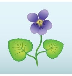 Spring flower viola violet floral icon violet vector