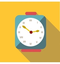 Square clock icon flat style vector
