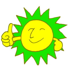 sun smile with color vector image