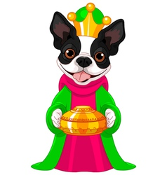 The boston terrier as a biblical magi vector