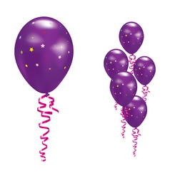 violet party balloons vector image