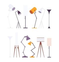 Set of floor lamps vector