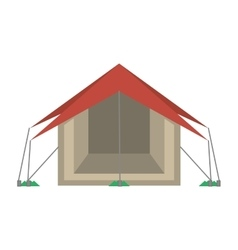 tourism tent camping excursions vector image