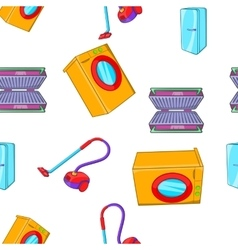 Home appliances pattern cartoon style vector