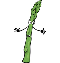 Cute asparagus vegetable cartoon vector