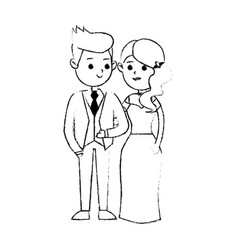 groom and bride icon image vector image