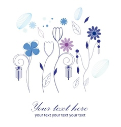 Greeting card floral background vector image