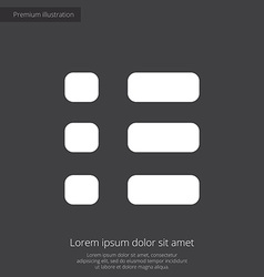 List premium icon white on dark background vector