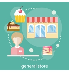 Sweet store concept vector