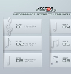 Infographics steps to learning music vector