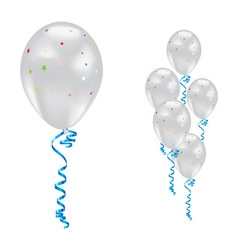 White party balloons vector