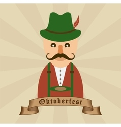 Oktoberfest celebration design with bavarian man vector