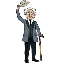 Old man with a cane vector
