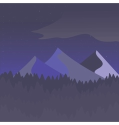 Violet and gray mountain landscape vector