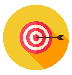 Aim with Arrow Circle Icon vector image vector image