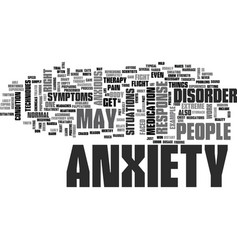 Anxiety disorder symptoms text word cloud concept vector