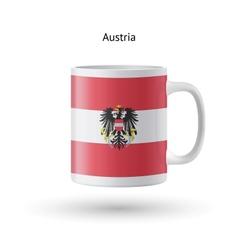 Austria flag souvenir mug on white background vector