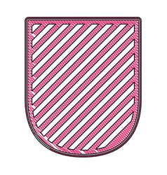 badge in colored crayon silhouette and striped vector image vector image