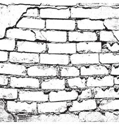 Bricks damaged vector