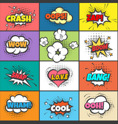Comic pow bubbles vector
