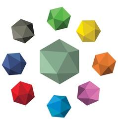 Crystal rock vector