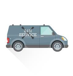 Emergency repair service car vector