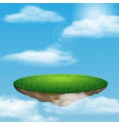 Floating island in sky vector image
