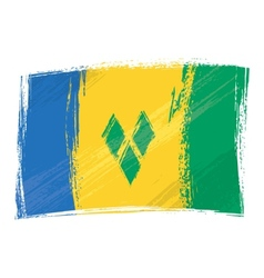 Grunge Saint Vincent and the Grenadines flag vector image vector image