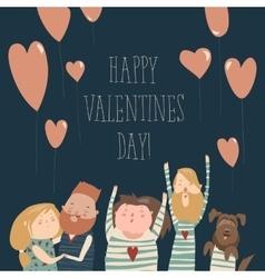 Happy loving couple vector