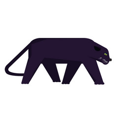 Isolated abstract panther vector