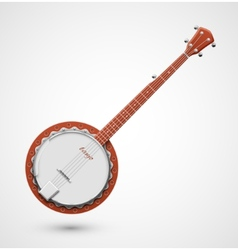 Isolated banjo vector