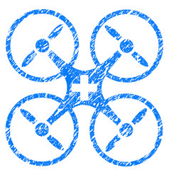 medical drone grunge icon vector image vector image