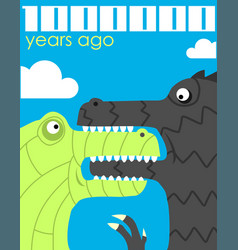 Million years ago vector