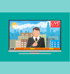 news announcer in the studio vector image