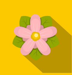 Pink flower icon flat style vector