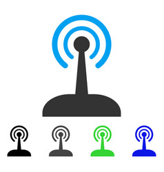 Radio joystick flat icon vector