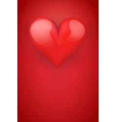 Realistic red romantic heart background vector