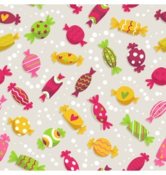 Seamless pattern with colorful sweets vector image
