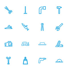 Set of 16 editable equipment outline icons vector