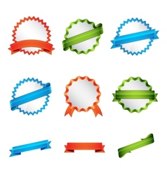 Set of badge and ribbon vector image vector image