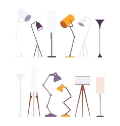 Set of floor lamps vector image vector image