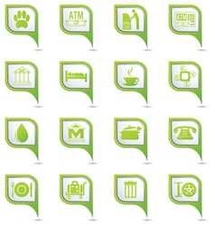 Set of Services and Entertainment GREENpointer vector image vector image