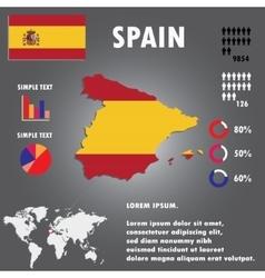 Spain map infographics vector