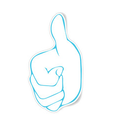 stickers of very good hand gesture vector image