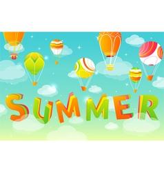 Summer sky in vector