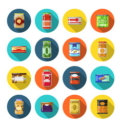 tinned goods set vector image