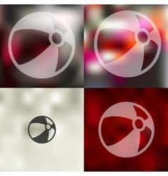 Ball icon on blurred background vector