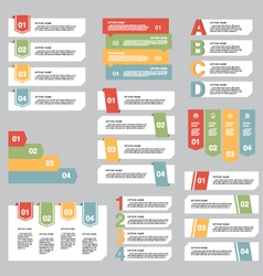 Set of infographic design options concept template vector