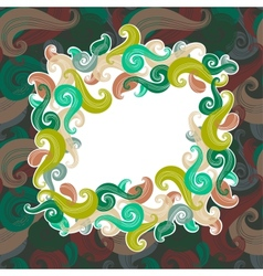 Colorful wave frame vector image