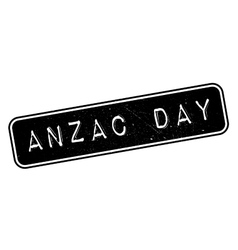 Anzac day rubber stamp vector